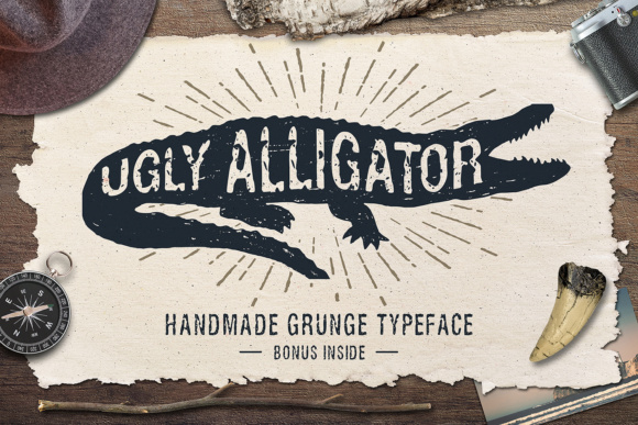 Print on Demand: Ugly Alligator Sans Serif Font By Cosmic Store