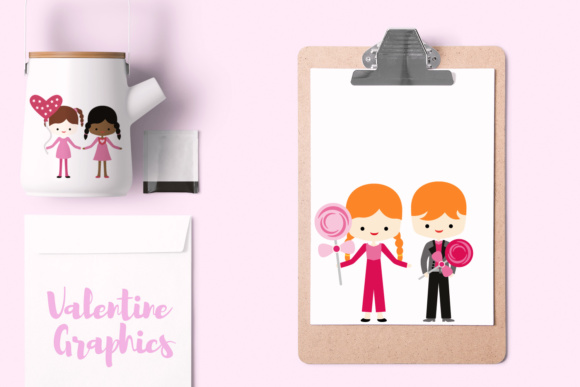 Print on Demand: Valentine Children Graphic Illustrations By Revidevi - Image 2