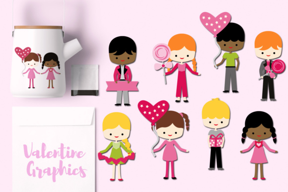Print on Demand: Valentine Children Graphic Illustrations By Revidevi - Image 1