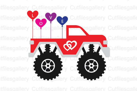 Download Free Valentine Truck Cut Files For Silhouette Graphic By SVG Cut Files