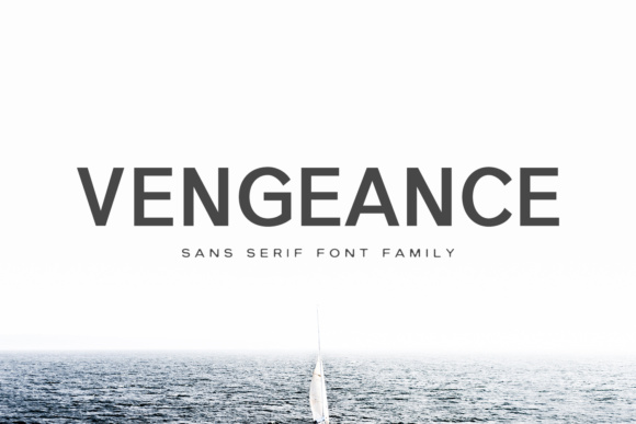Print on Demand: Vengeance Family Sans Serif Font By Creative Tacos