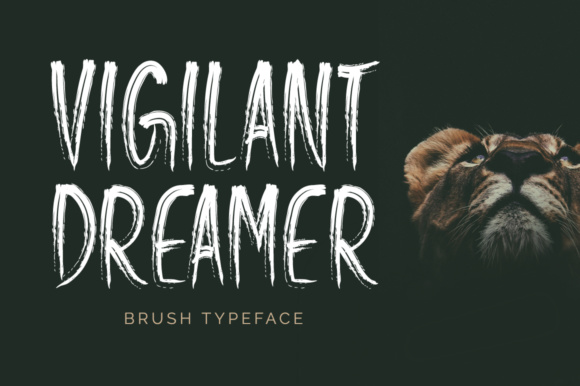 Print on Demand: Vigilant Dreamer Display Font By Shattered Notion