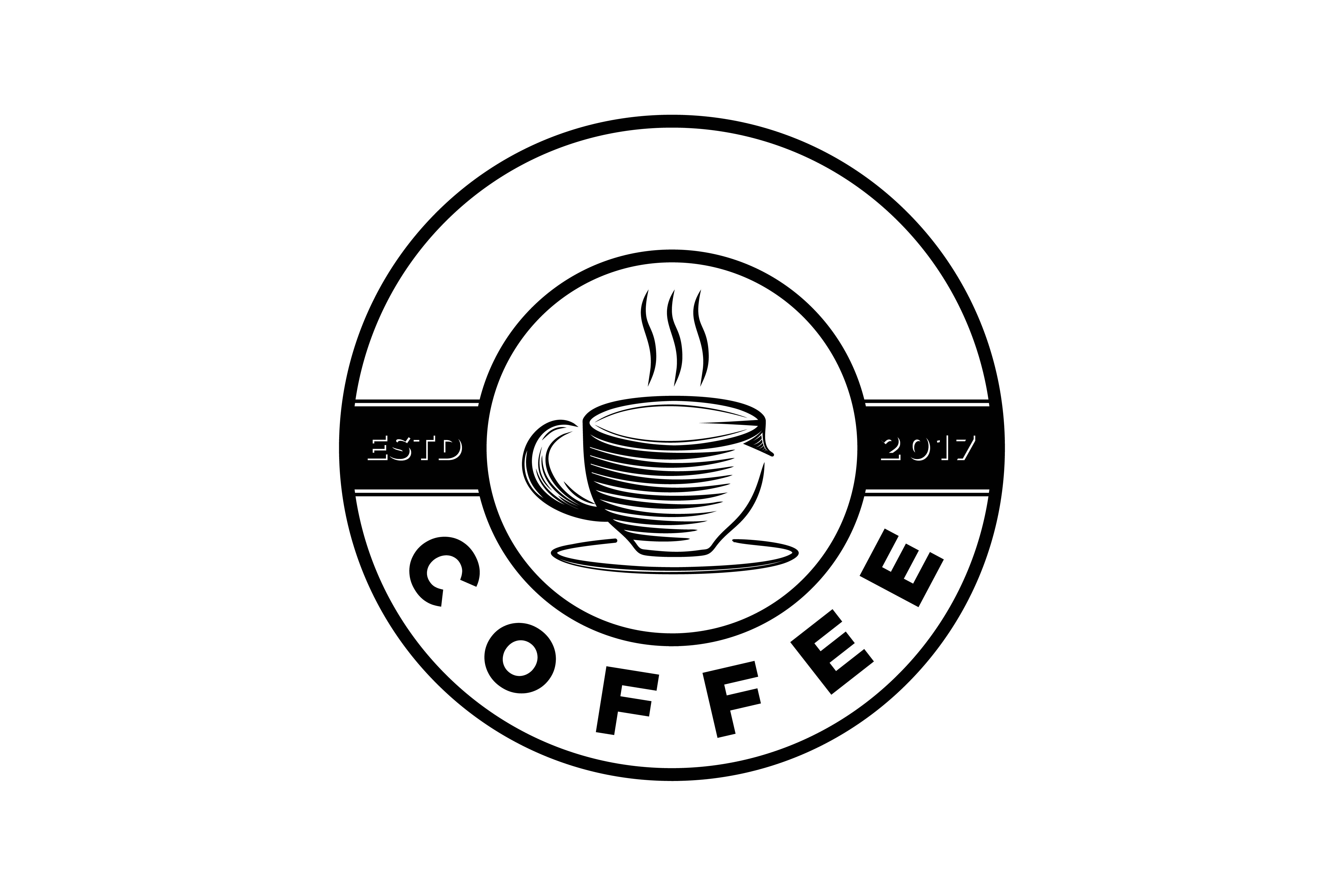 Download Free Vintage Coffee Cup Logo Graphic By Yahyaanasatokillah Creative for Cricut Explore, Silhouette and other cutting machines.