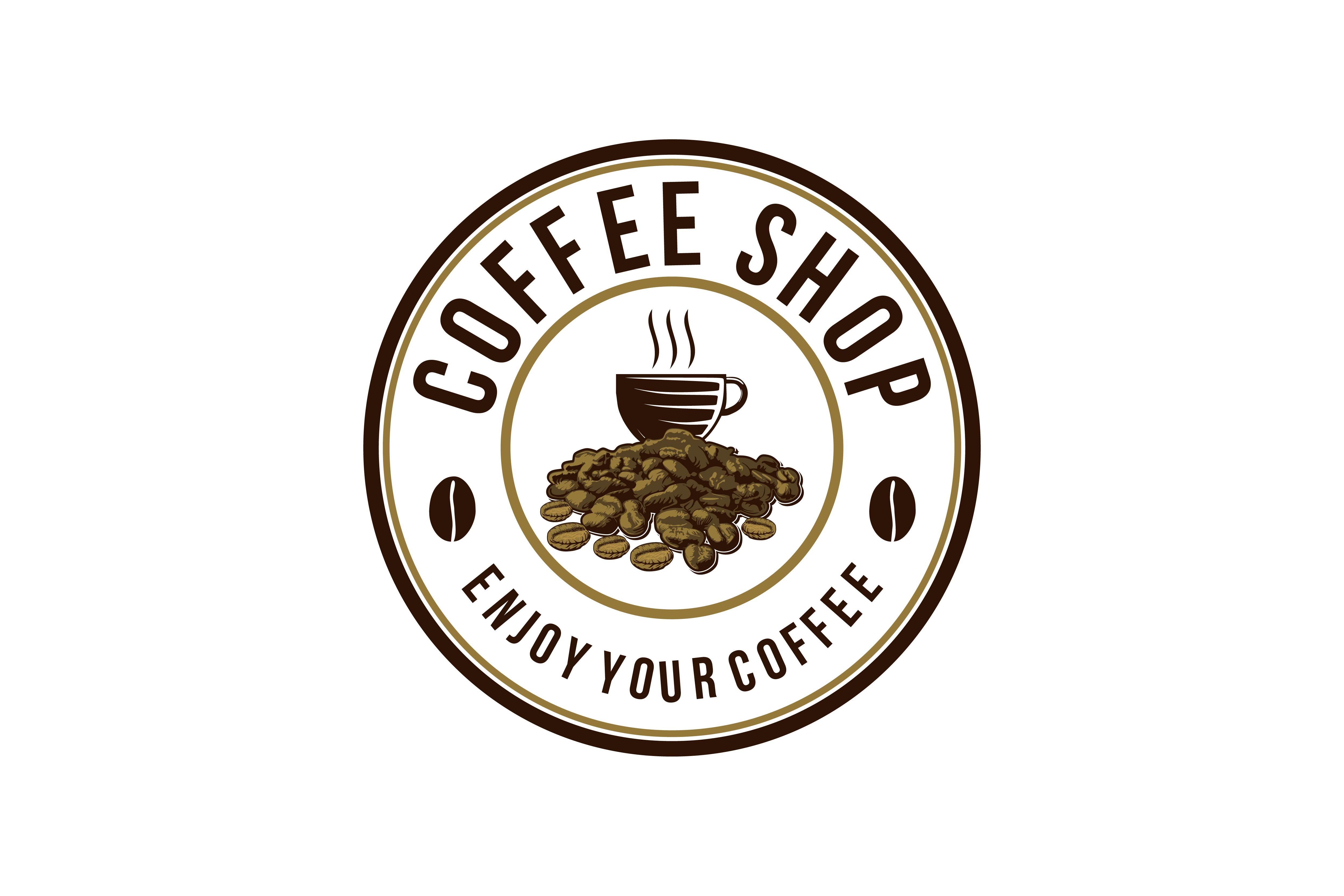Download Free Vintage Coffee Emblem Logo Graphic By Yahyaanasatokillah for Cricut Explore, Silhouette and other cutting machines.
