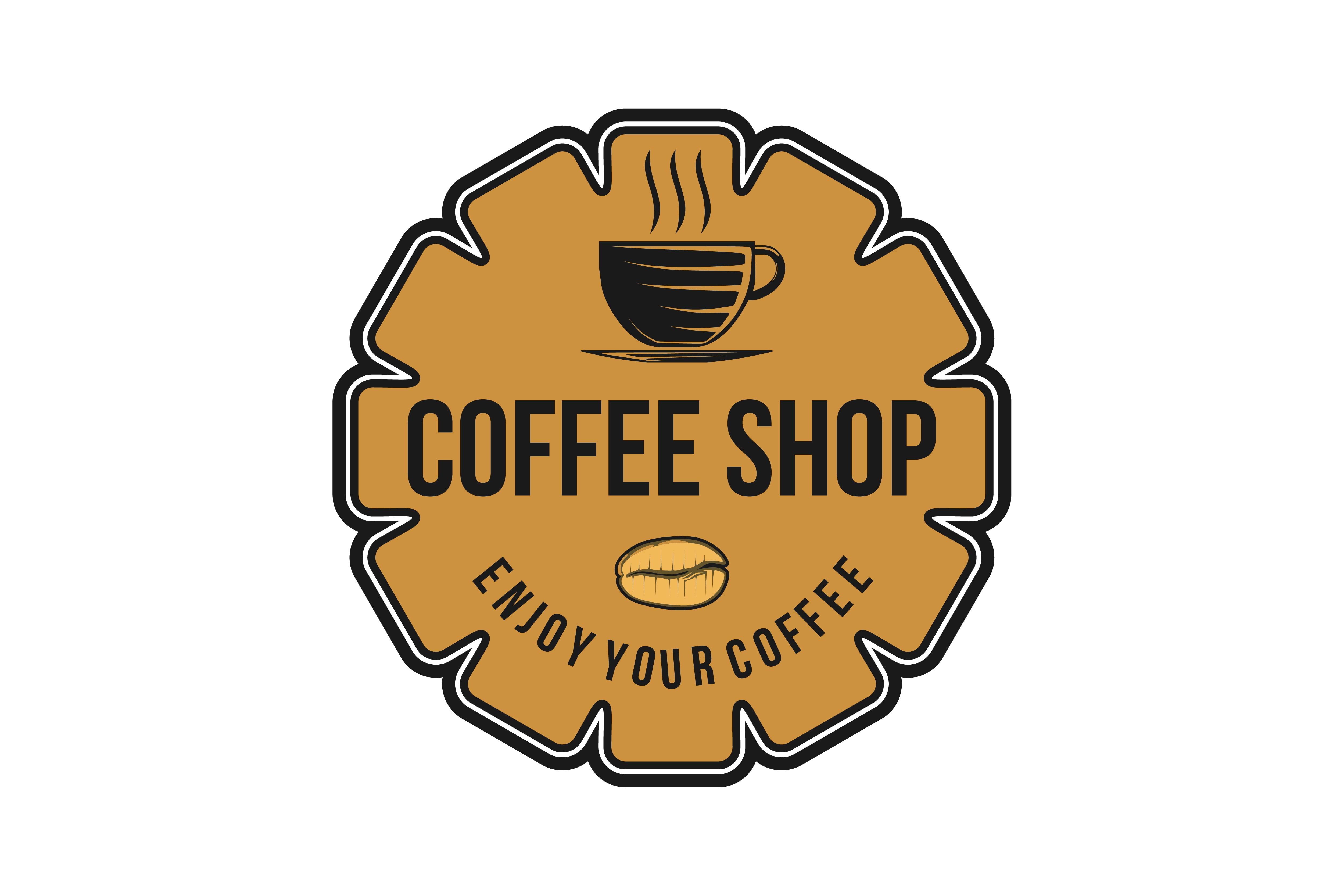 Download Free Vintage Coffee Shop Coffee Cup Logo Graphic By Yahyaanasatokillah Creative Fabrica for Cricut Explore, Silhouette and other cutting machines.