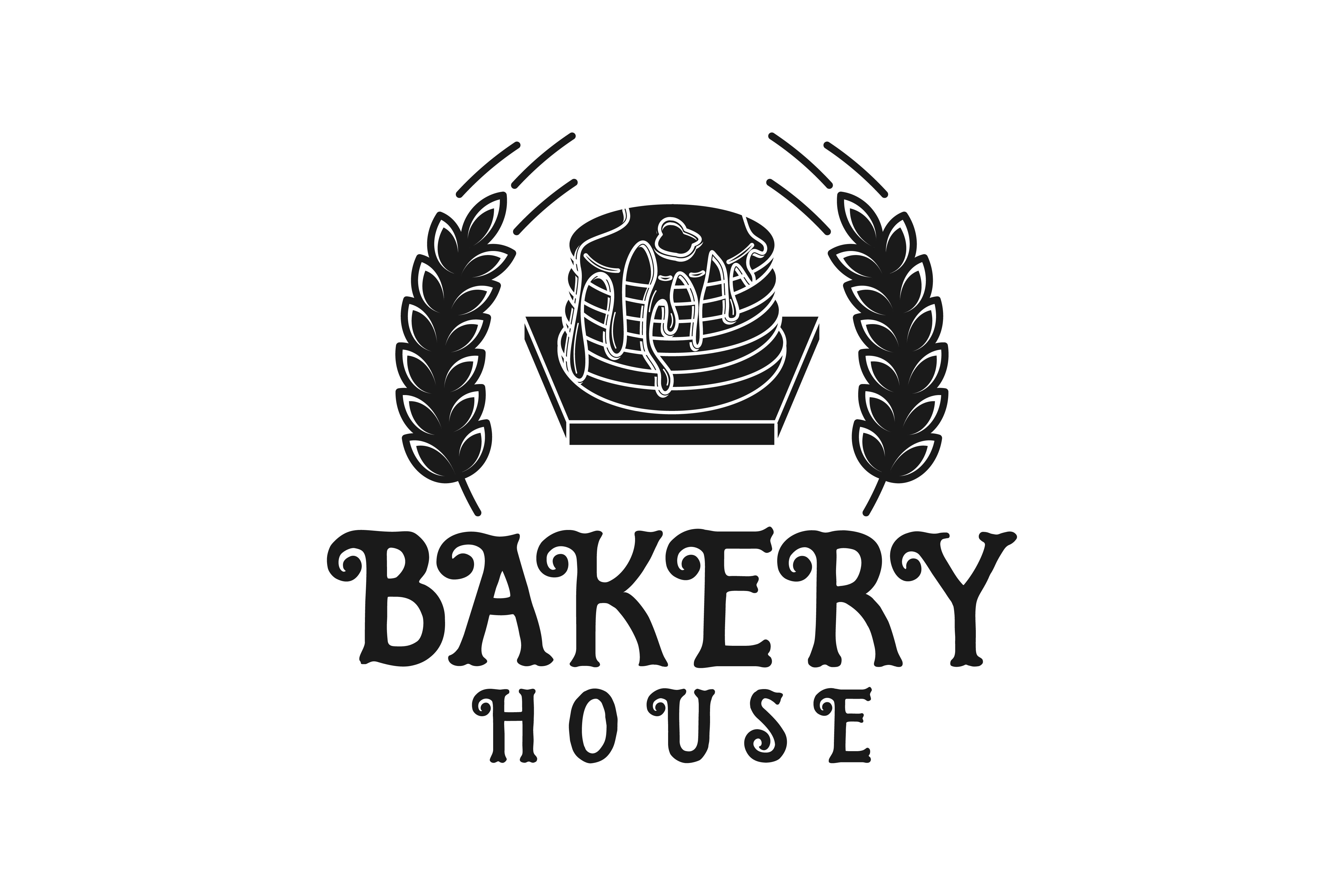 Vintage Cupcake And Wheat Bakery Logo Graphic By
