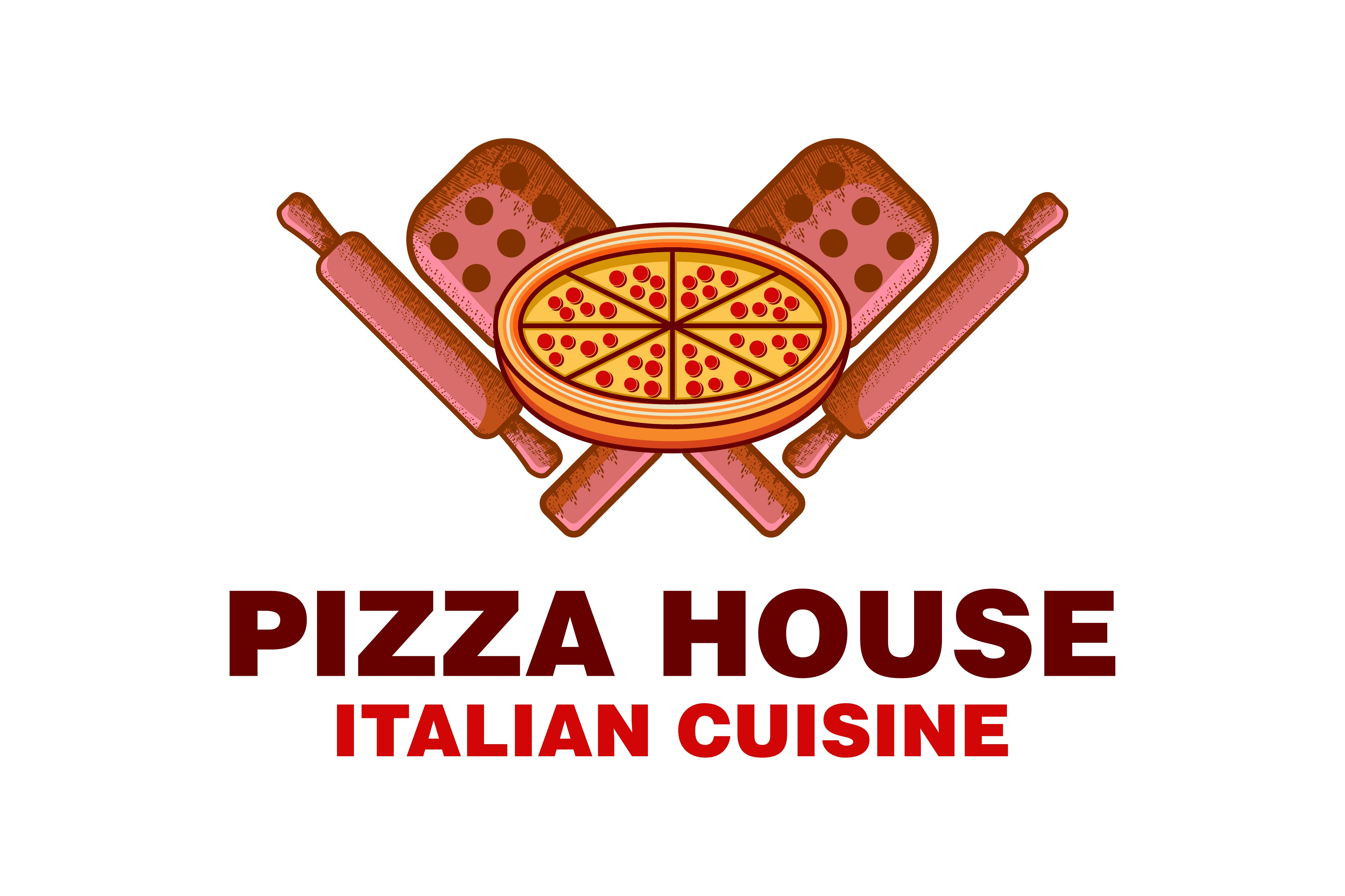 Download Free Vintage Pizza House Italian Food Logo Graphic By SVG Cut Files