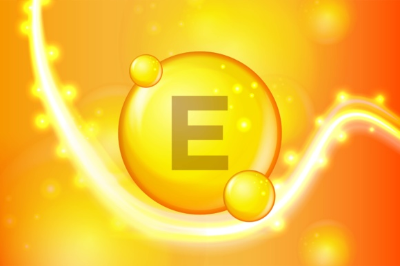 Print on Demand: Vitamin E Gold Shining Pill Capsule Icon Graphic Illustrations By ojosujono96