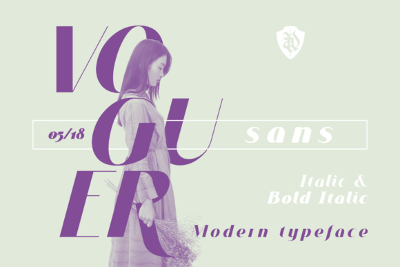Print on Demand: Voguer Sans Serif Font By NREY
