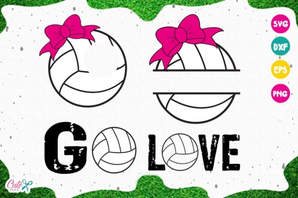 Download Free Volleyball Monogram Graphic By Cute Files Creative Fabrica for Cricut Explore, Silhouette and other cutting machines.