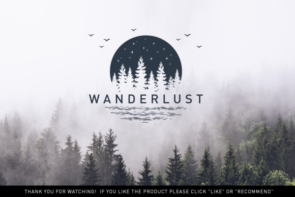 Print on Demand: Wanderlust. 15 Double Exposure Logos Graphic Logos By Cosmic Store - Image 14