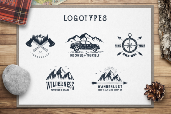 Download Free Wanderlust 15 Double Exposure Logos Grafico Por Cosmic Store for Cricut Explore, Silhouette and other cutting machines.