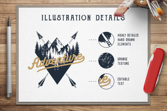 Print on Demand: Wanderlust. 15 Double Exposure Logos Graphic Logos By Cosmic Store - Image 3