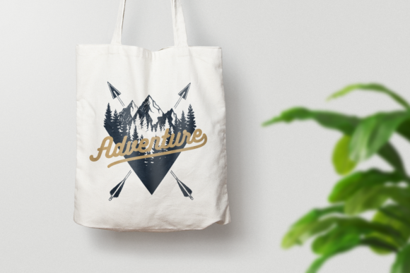 Print on Demand: Wanderlust. 15 Double Exposure Logos Graphic Logos By Cosmic Store - Image 10