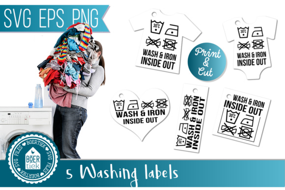 Download Free Washing Labels Graphic By Boertiek Creative Fabrica for Cricut Explore, Silhouette and other cutting machines.