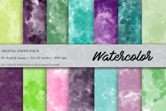 Watercolor Background Digital Paper Graphic By damlaakderes