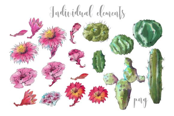 Download Free Watercolor Cactus Creator Pattern Graphic By Nicjulia for Cricut Explore, Silhouette and other cutting machines.
