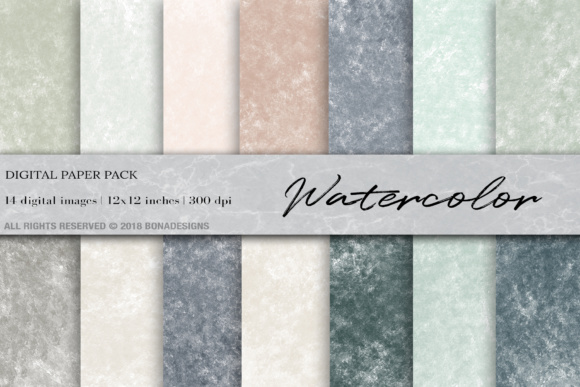 Watercolor Digital Paper Background Graphic By Bonadesigns
