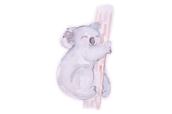 Download Free Watercolor Koala Svg Cut File By Creative Fabrica Crafts for Cricut Explore, Silhouette and other cutting machines.