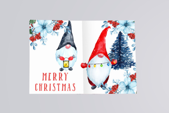 Download Free Watercolor Scandinavian Gnome Christmas Clipart Graphic By for Cricut Explore, Silhouette and other cutting machines.