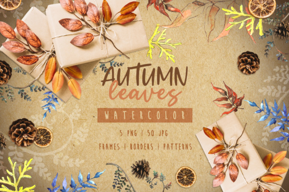 Print on Demand: Watercolor Autumn Leaves Graphic Illustrations By MyStocks