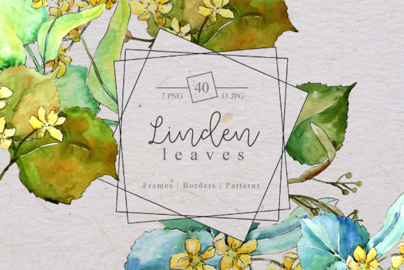 Print on Demand: Watercolor Linden Leaves Set Graphic Illustrations By MyStocks