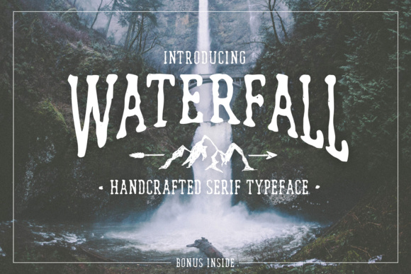 Print on Demand: Waterfall Serif Font By Cosmic Store