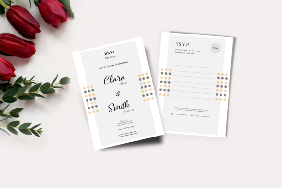 Wedding Card & RSVP Graphic Print Templates By TMint
