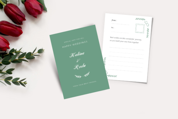 Wedding Gift Cards Graphic Print Templates By TMint