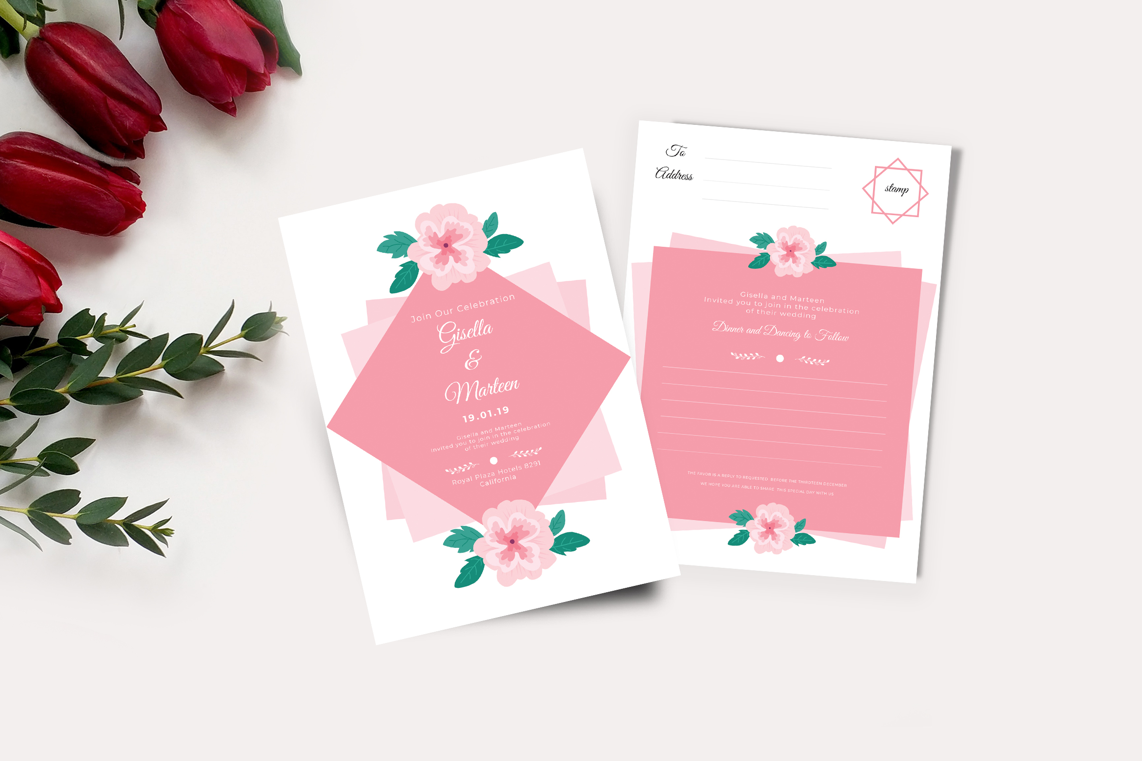 Download Free Wedding Invitation And Rsvp Graphic By Tmint Creative Fabrica for Cricut Explore, Silhouette and other cutting machines.