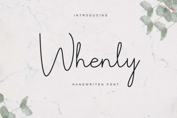 Print on Demand: Whenly Script & Handwritten Font By Mang_Sv