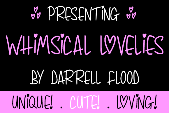 Print on Demand: Whimsical Lovelies Display Font By Dadiomouse