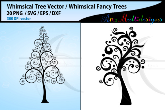 Download Free Whimsical Tree Graphic By Arcs Multidesigns Creative Fabrica for Cricut Explore, Silhouette and other cutting machines.