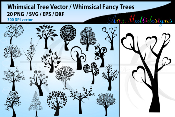 Print on Demand: Whimsical Tree  Graphic Illustrations By Arcs Multidesigns