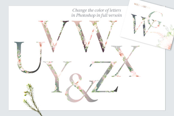 Wild Garden Botanical Alphabet Watercolor Graphic By Creative Fabrica Freebies Image 4