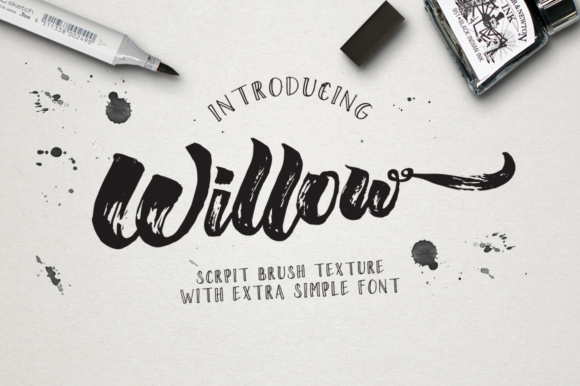 Print on Demand: Willow Duo Display Font By m.ardiansyah1988