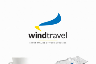 Wind Travel - a Travel Agency Logo Graphic By Design A Lot