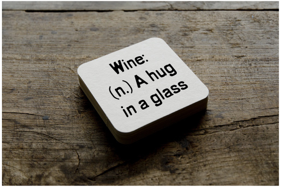 Wine-(n.)-a Hug in a Glass Cups & Mugs Craft Cut File By Creative Fabrica Crafts