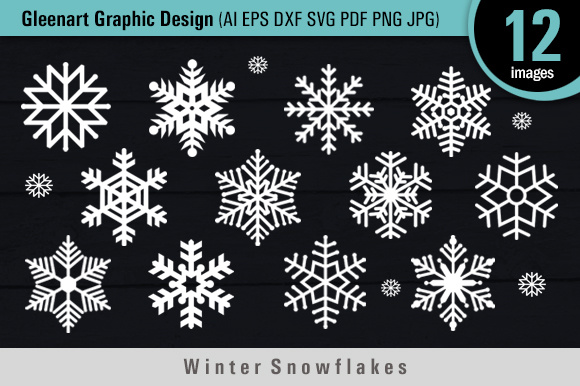 Download Free Winter Snowflakes Files Grafik Von Gleenart Graphic Design for Cricut Explore, Silhouette and other cutting machines.