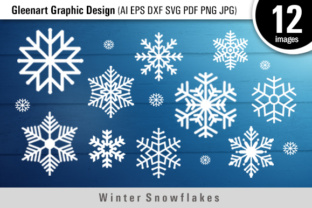 Winter Snowflakes SVG Files Graphic By Gleenart Graphic Design