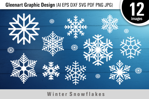 Download Free Winter Snowflakes Files Graphic By Gleenart Graphic Design for Cricut Explore, Silhouette and other cutting machines.