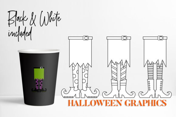 Download Free Witch Feet Halloween Graphic By Darrakadisha Creative Fabrica for Cricut Explore, Silhouette and other cutting machines.