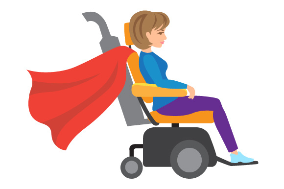 Woman In A Power Wheelchair With Car Exhausts Svg Cut File By