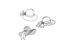Download Free Women S Summer Hat Graphic By Sabavector Creative Fabrica for Cricut Explore, Silhouette and other cutting machines.