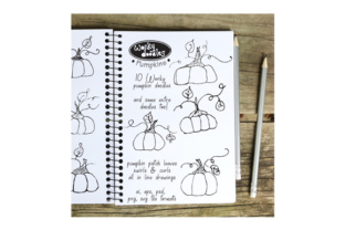 Download Free Wonky Doodles Pumpkins Graphic By Curious Kitten Creative Fabrica SVG Cut Files