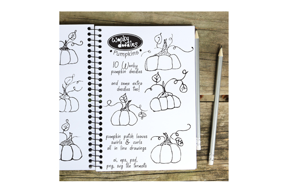 Download Free Wonky Doodles Pumpkins Graphic By Curious Kitten Creative Fabrica for Cricut Explore, Silhouette and other cutting machines.