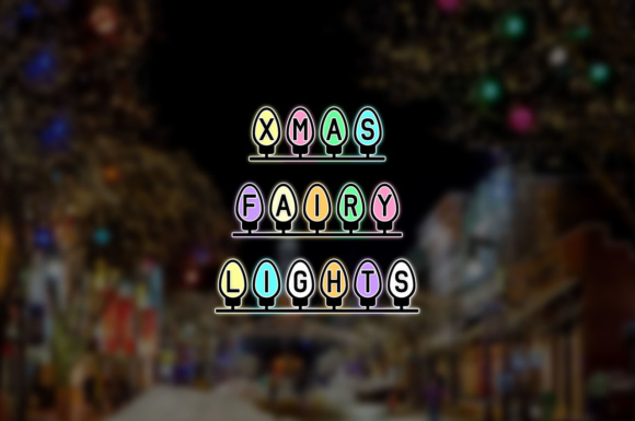 Print on Demand: Xmas Fairy Lights Display Font By Chequered Ink