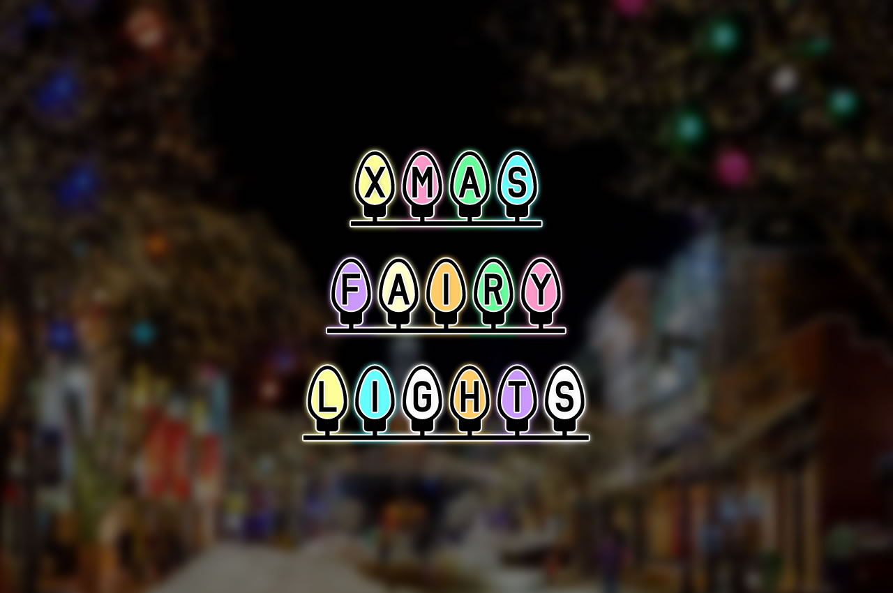 Download Free Xmas Fairy Lights Font By Chequered Ink Creative Fabrica for Cricut Explore, Silhouette and other cutting machines.