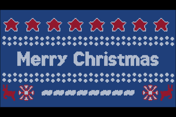 Download Free Xmas Sweater Stitch Font By Chequered Ink Creative Fabrica for Cricut Explore, Silhouette and other cutting machines.