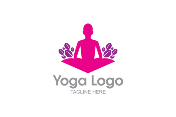 Download Free Yoga Logo Graphic By Thehero Creative Fabrica for Cricut Explore, Silhouette and other cutting machines.